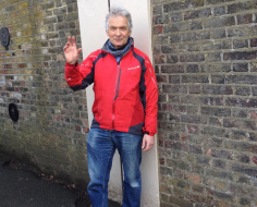 Martin Nelson on the Greenwich Meridian