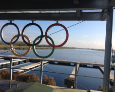 Dorney Lake Olympic rowing course: Arc 8b