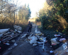 The scourge of flytipping - South Mimms: Spoke 12