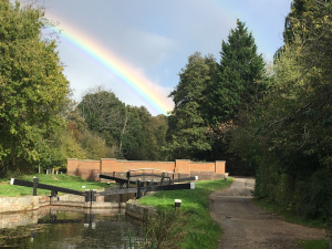 A showery day on the Basingstoke Canal: Spin-off 8